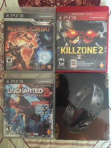 lote de juegos ps3 (uncharted , killzone, mortal kombat)