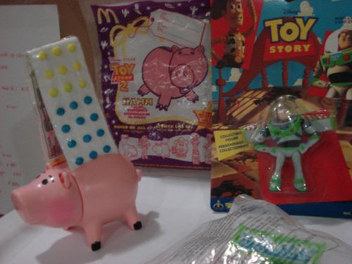 lote de juguetes y dispensador toy story 2  mc donal`s  ndd