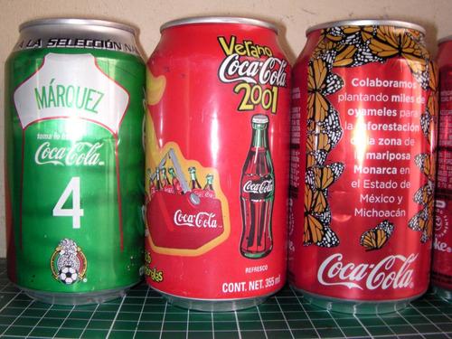 lote de latas de aliminio refresco coca cola...vacios