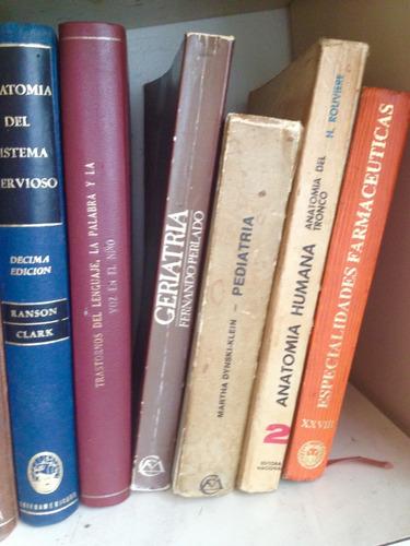 lote de libros de medicina , cirugia , pediatria y mas