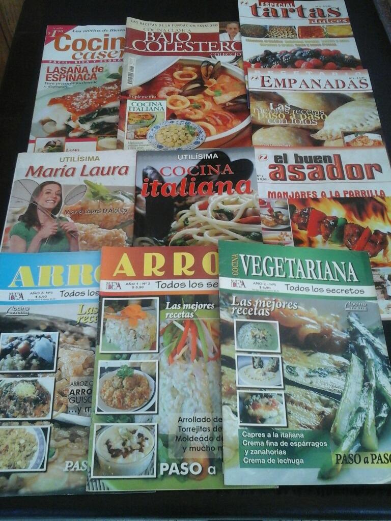 Lote De Libros Y Revistas De Cocina 10 Ejs 200 00 En Mercado Libre