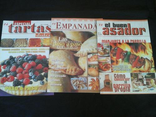 lote de libros y revistas de cocina - 10 ejs