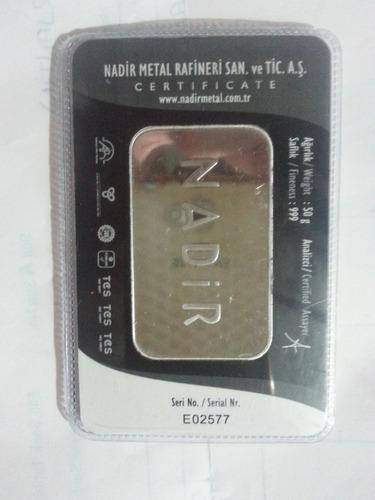 lote de lingotes de plata pura 999 0.5 kilo 10 de 50 grs