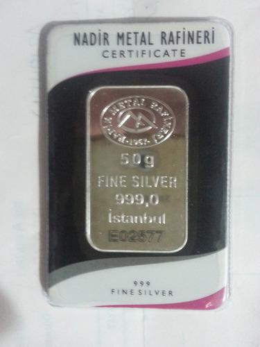 lote de lingotes de plata pura 999 un kilo 20 de 50 grs