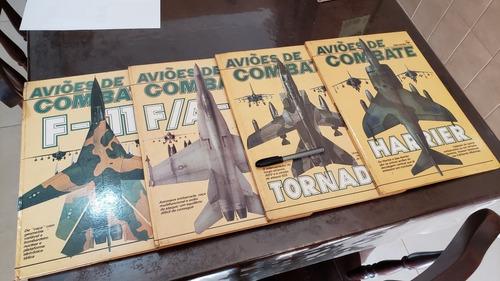 lote de livros de aviões militares caças guerra