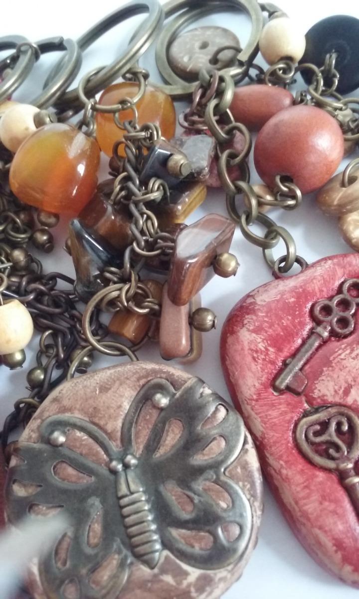 e0ebcaf7fed8 Cargando zoom... lote de llaveros - bijouterie - piedras - artesanales ...