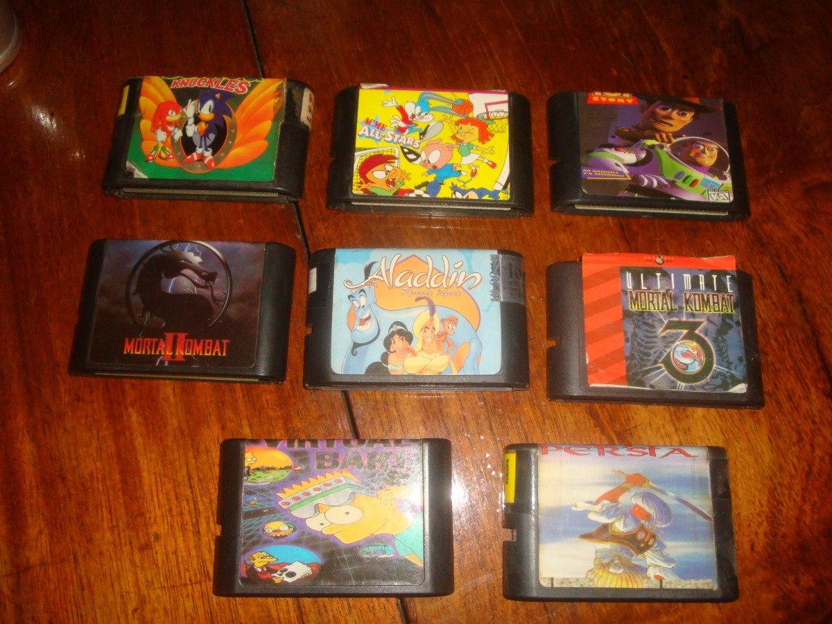 Lote De Los 8 Mejores Juegos De Sega Genesis Unico 1 350 00