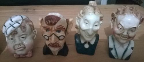 lote de miniaturas  japon con caras - saleros - pimenteros