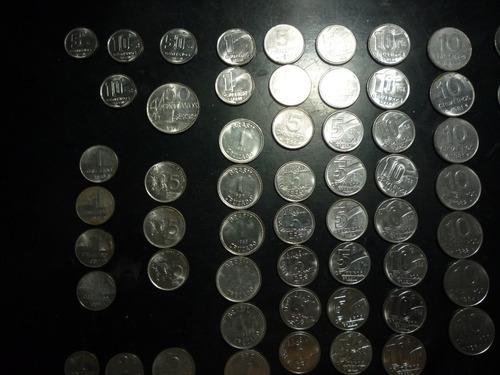 lote de moedas nacionais