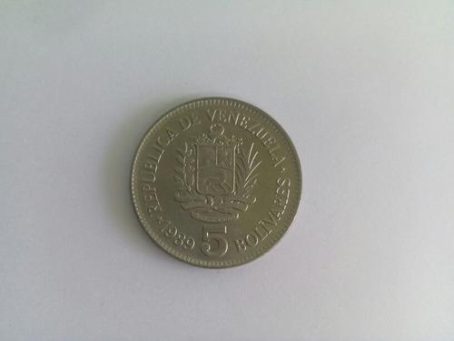 lote de monedas de 5 bs. de 1989 y 1990 fuera de circulación