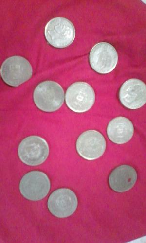 lote de monedas de 5,2 y e 500