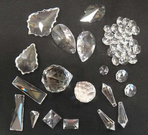 lote de pendulos de cristal fino y envio gratis  dhl