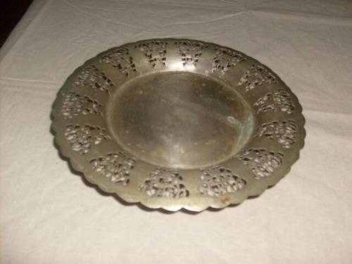 lote de platos de platina antiguos