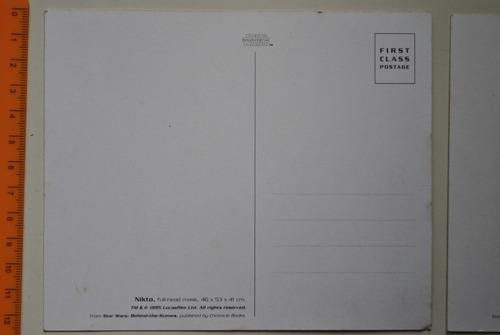 lote de postales star wars originales $100.00 x las 3.
