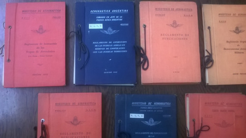 lote de reglamentos de fuerza aerea arg de coleccion