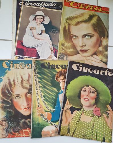 lote de revistas cinearte 32, 204, 209 e scenamuda 595 e 15