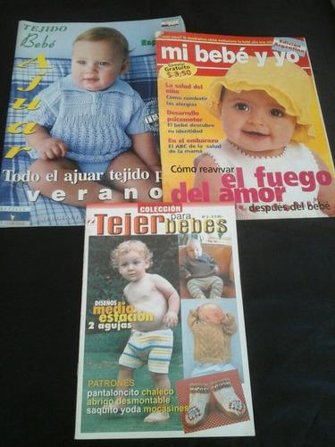 lote de revistas para bebes - 3 ejs