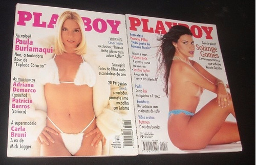lote de revistas playboy ano 1996 - raras