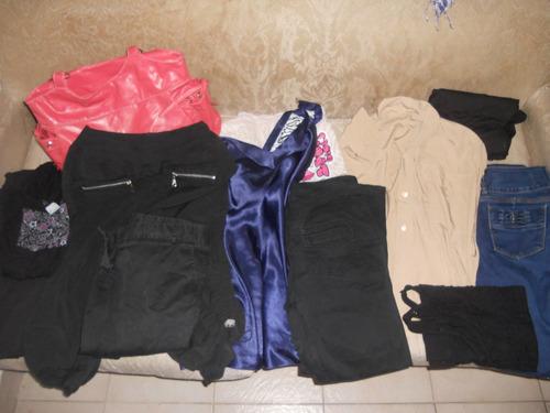 lote de ropa - remera - jean elastizado - calzas - cartera