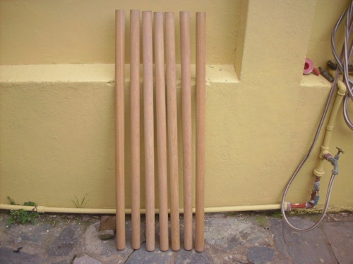 lote de seis balustres columnas de cerejeira