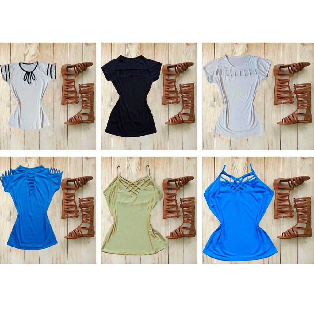 16a4766826 lote de seis blusas feminina atacado roupas para revender. Carregando zoom.