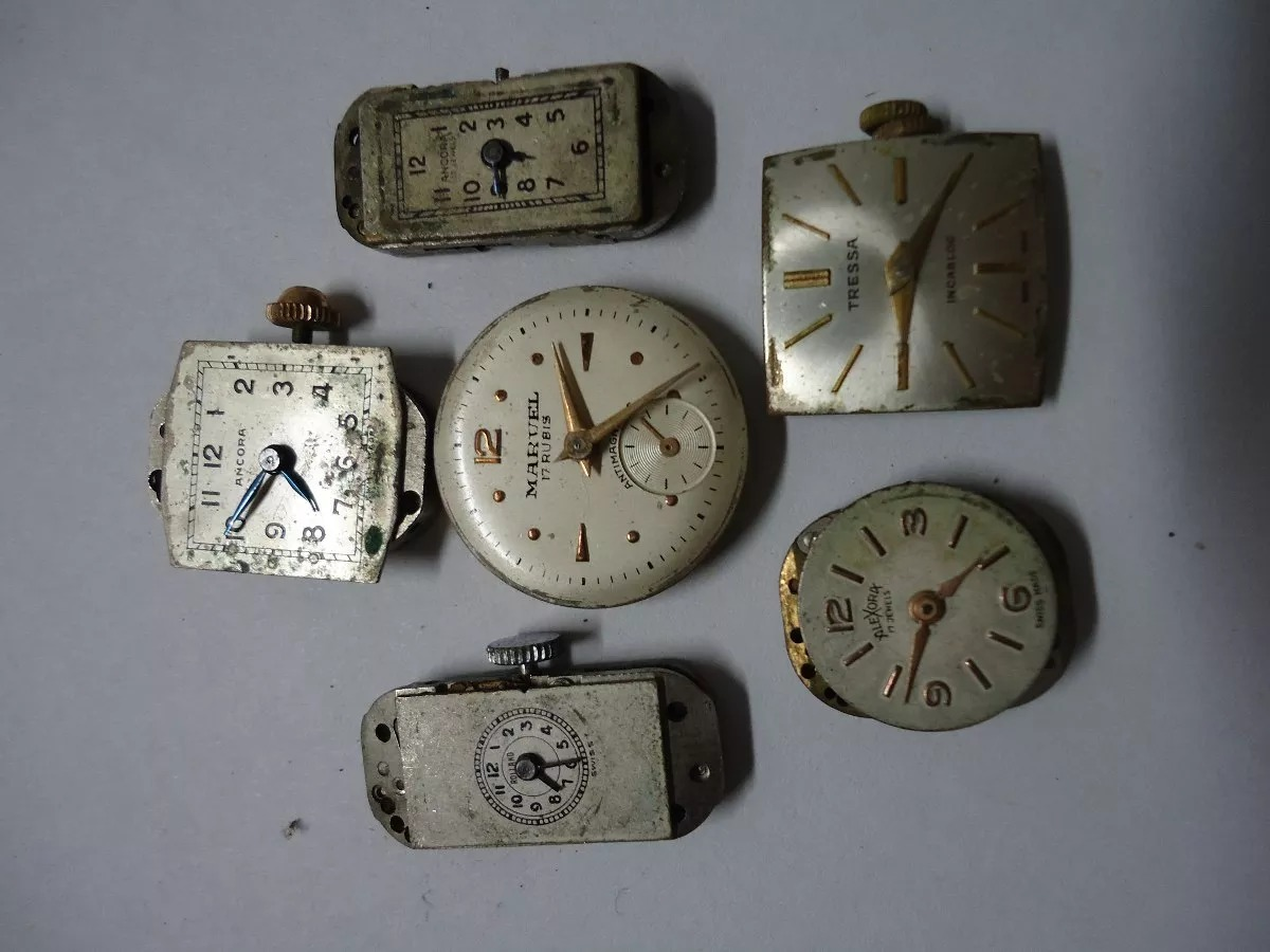 b1788114ec6f lote de seis maquinas de reloj vintage dama sin funcionar. Cargando zoom.