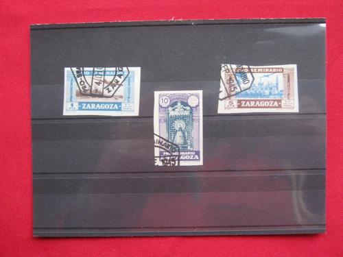 lote de sellos de españa pro seminario de zaragoza