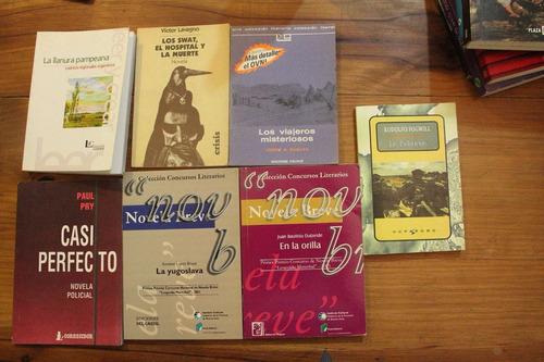 lote de siete libros de literatura argentina