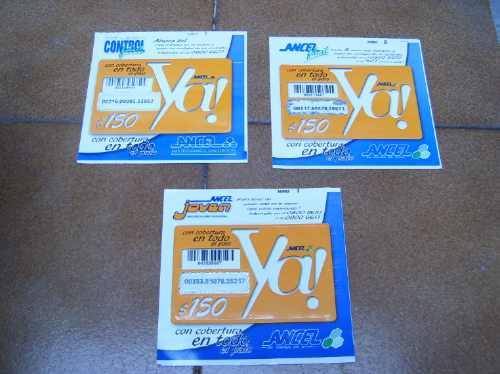 lote de siete tarjetas prepagas ancel segundo formato