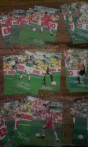lote de tarjetas bimbo cards varios equipos mexico