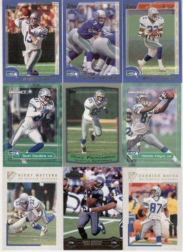 lote de tarjetas de seattle seahawks hasta 2004