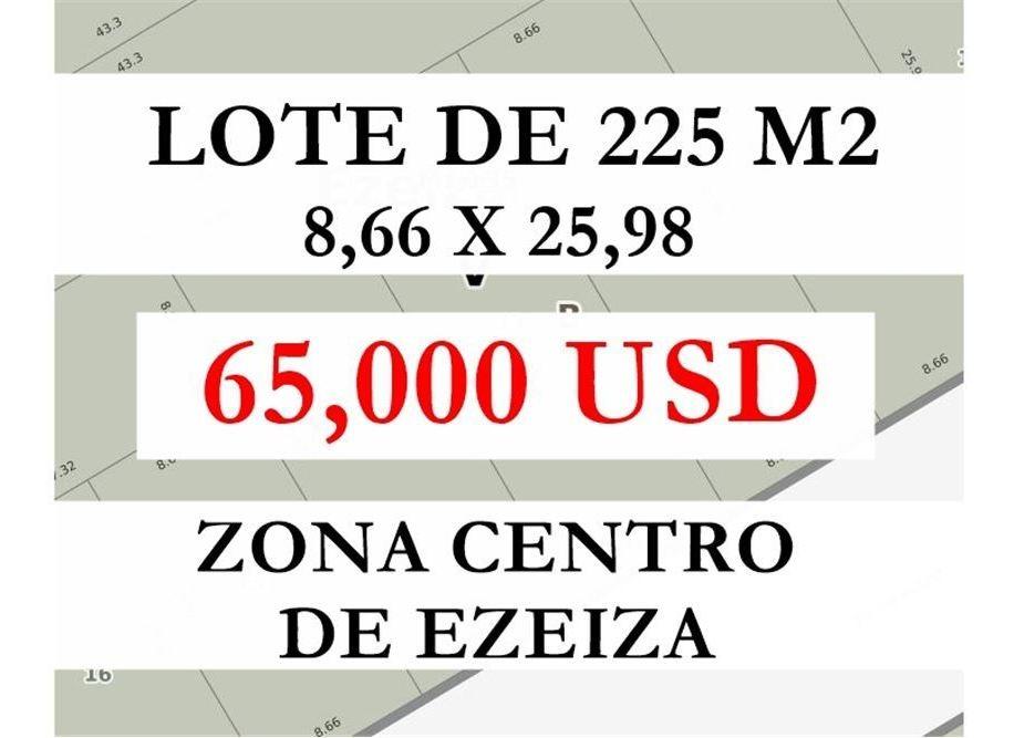 lote de terreno - 225 m2 - centro de ezeiza