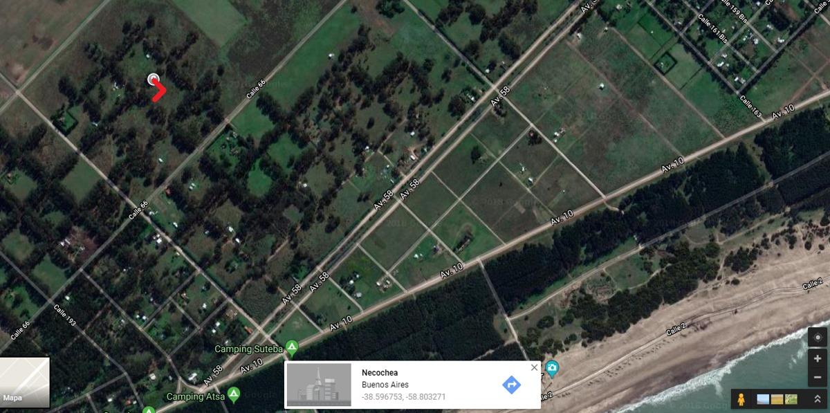 lote de terreno baldio en  zona sur de necochea