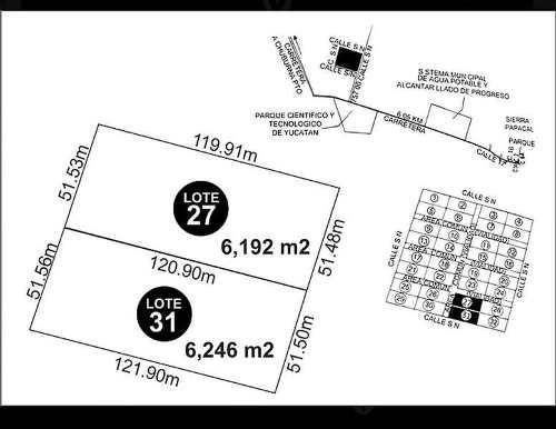 lote de terreno en venta, sierra papacal (550 m del parque científico)
