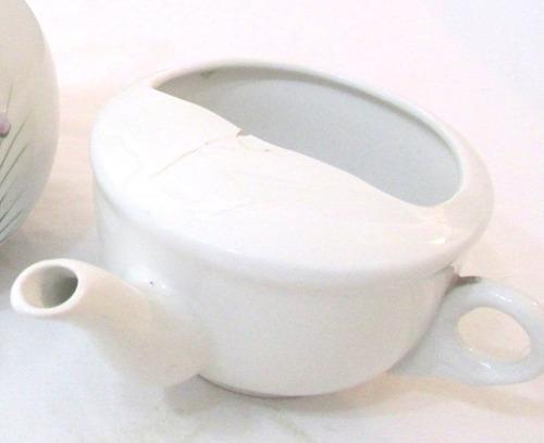 lote de teteras de porcelana en buen estado