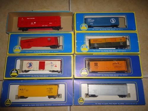 lote de vagones de tren escala ho ahm life like athearn tyco