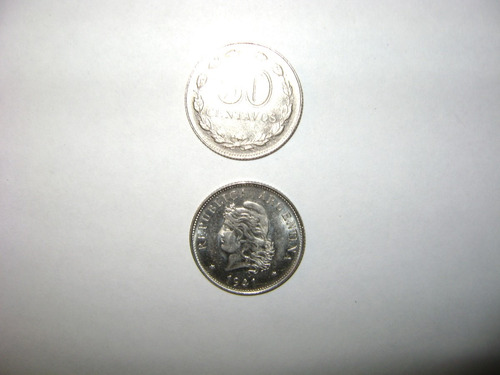 lote de  veintidos (22) monedas de 50 centavos níquel 1941