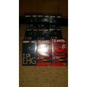 Lote De Video Cassete T120.y 8 Hs.