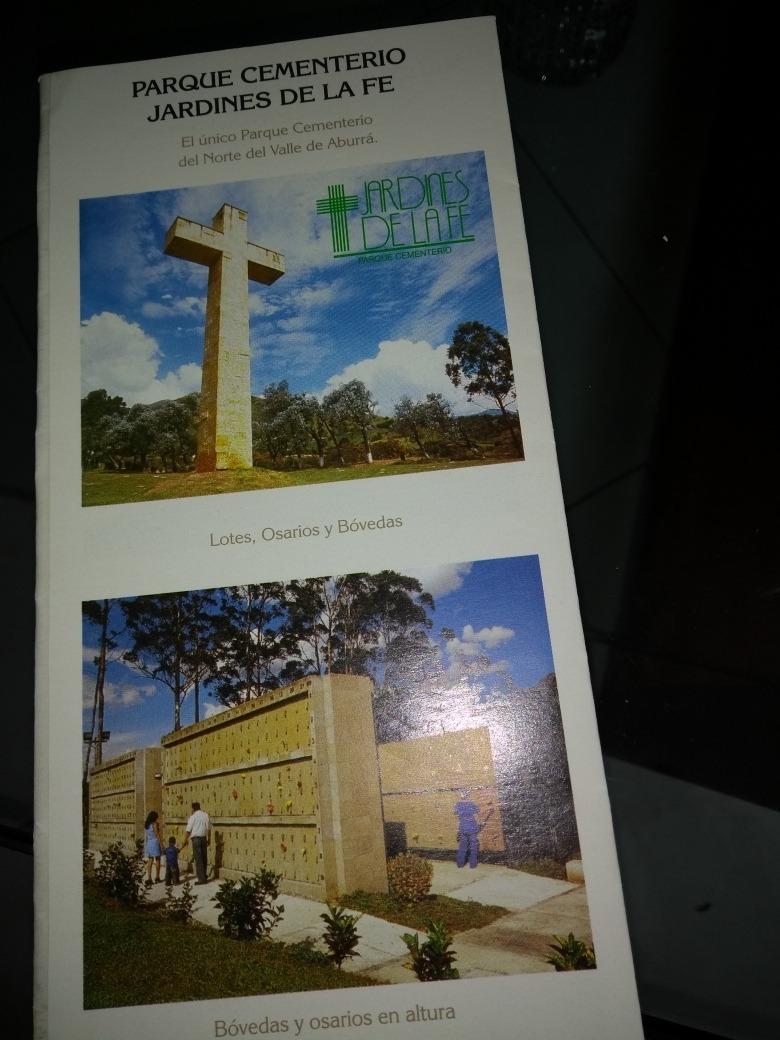 lote doble cementerio jardines de la fé#484y montesacro
