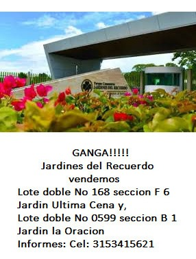 lote doble no 168 seccion f 6 jardin ultima cena