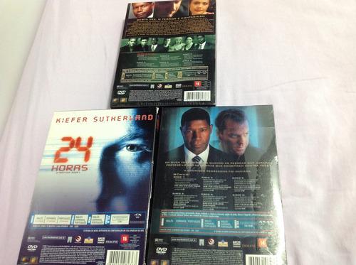 lote dvd 24 horas temporadas completas 1/2/3 originais