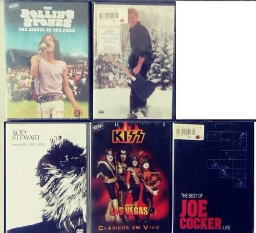 lote dvds recitales kiss-us-queen-rolling