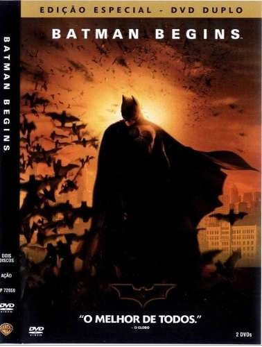 lote dvds - trilogia - coleção -  batman 1,2,3 - simples