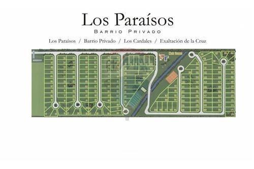 lote en barrio privado los paraisos