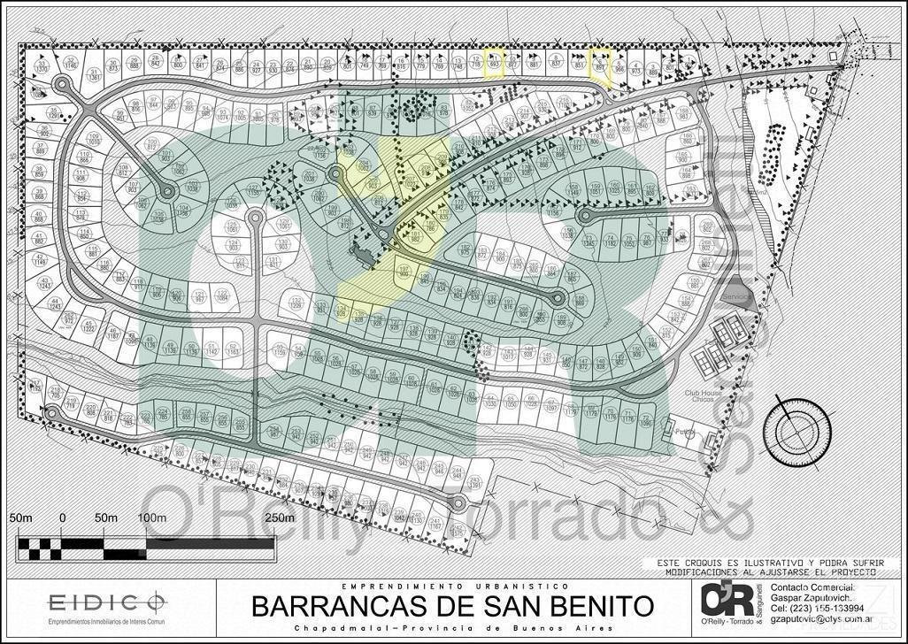 lote en country barrancas de san benito - mar del plata - ref: 657
