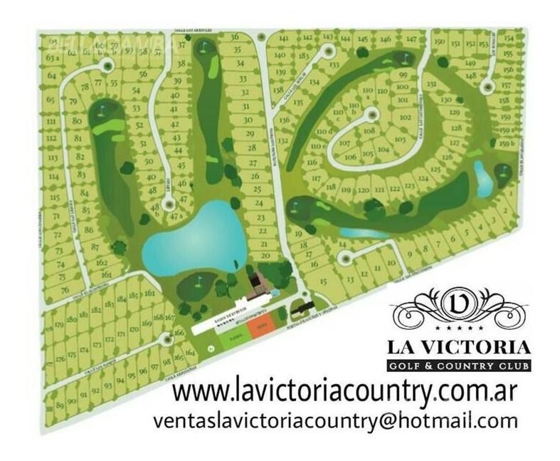 lote en country la victoria golf. excelente ubicación. sobre el histórico paraje la victoria.