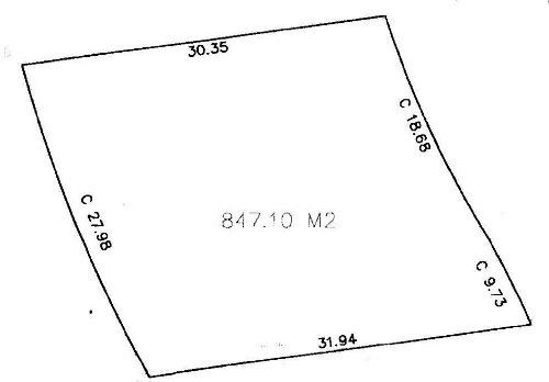 lote en esquina de 847.10m2 en privada kutz