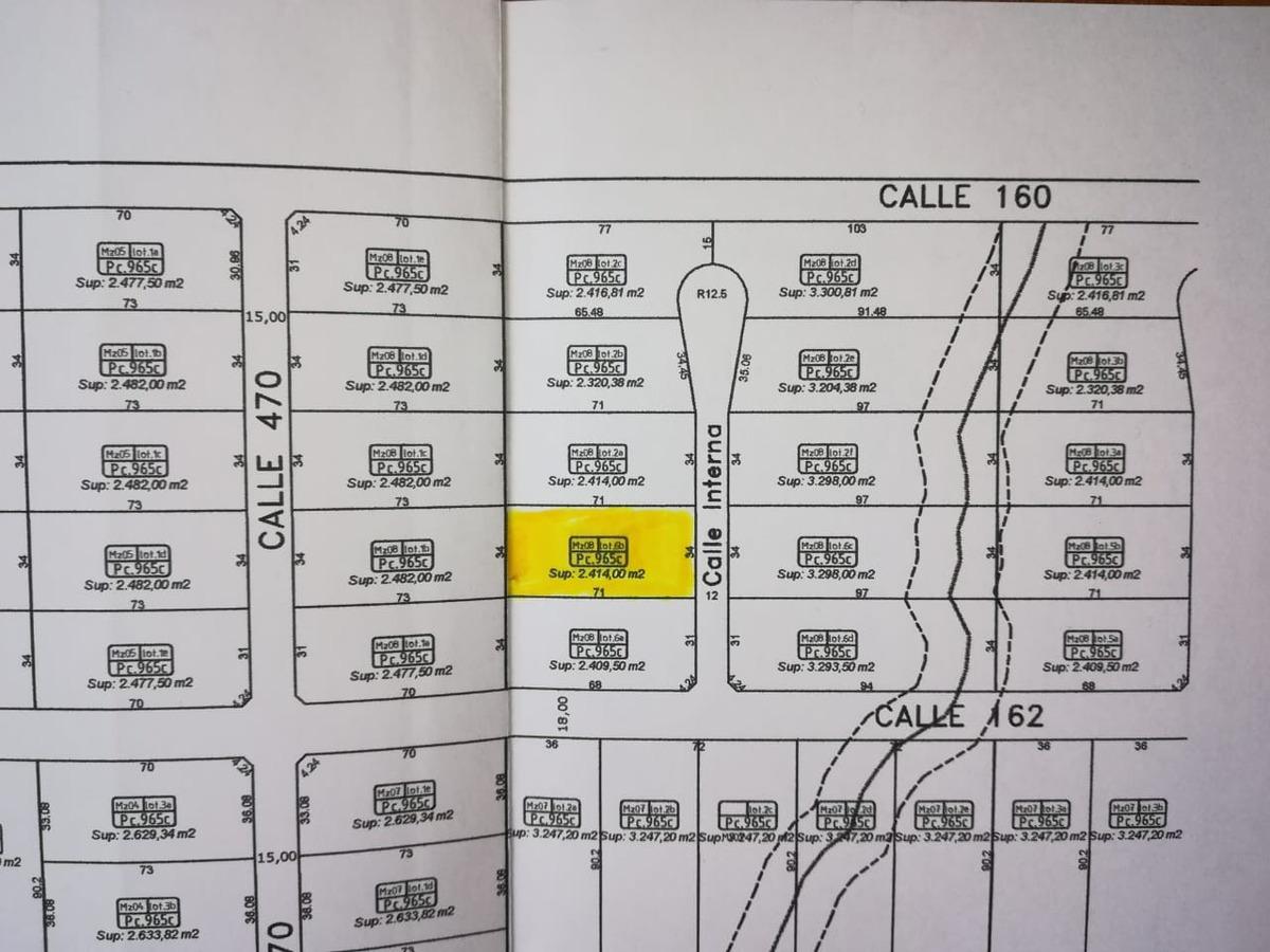lote en la cañada de city bel, barrio de chacras - 467 y 160
