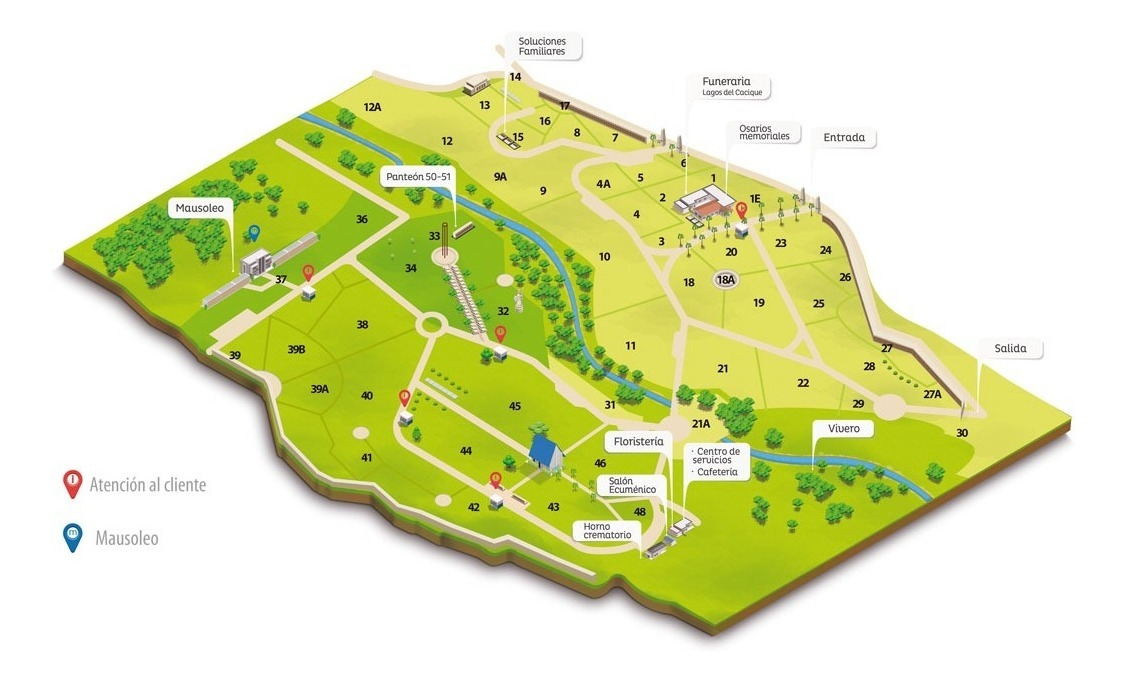 lote en la zona 43, cementerio jardines la colina