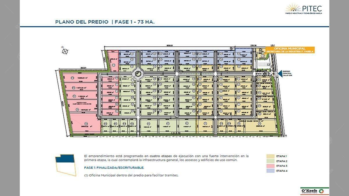 lote en parque industrial en venta  florencio varela zona sur - pitec etapa 3